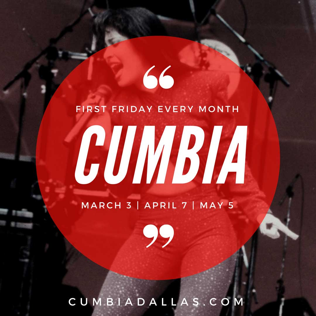 Cumbia lessons in Dallas every first Friday