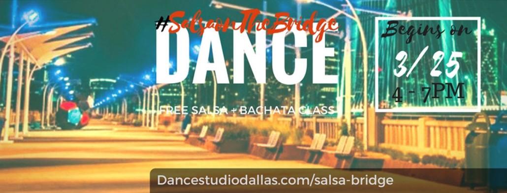 Free salsa and bachata dance lesson at Ron Kirk Bridge in Dallas every Saturday