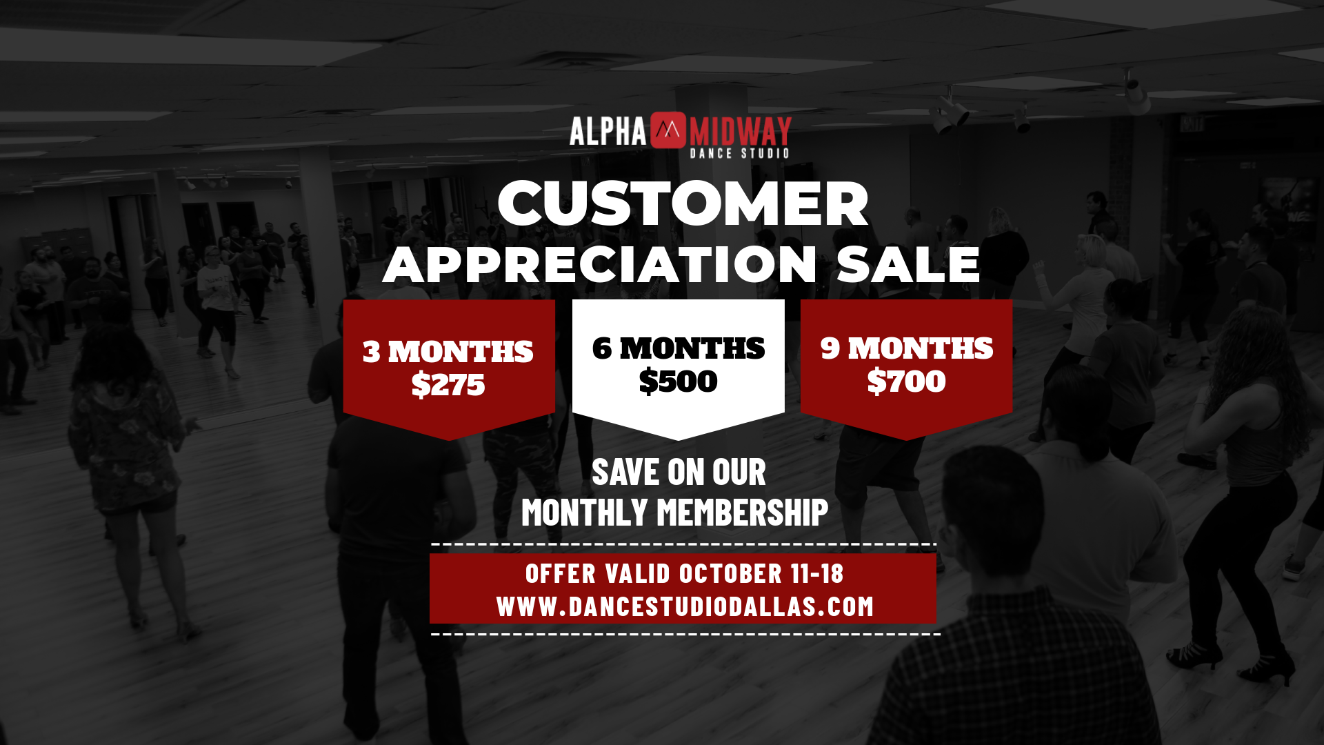 FALL CUSTOMER APPRECIATION DEAL